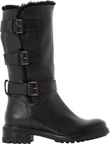 Dune Robby faux fur-lined leather boots