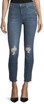 Mother Vamp High-Rise Skinny Released-Hem Jeans