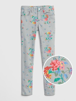 Gap Kids Floral Skinny Jeans with Stretch
