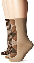 Gold Toe Women's Argyle Extended Size Fashion Sock (Pack of 3)