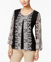 JM Collection Split Printed Top, Only at Macy's