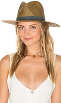 Janessa Leone Claudia Short Brimmed Fedora in Brown. - size L (also in M,S)