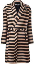 Rochas striped coat - women - Cotton/Polyester/Silk/Viscose - 38