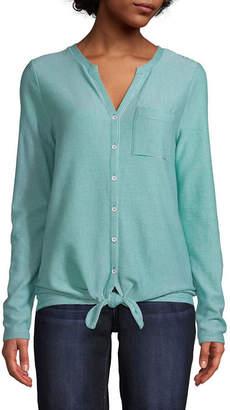 ST. JOHN'S BAY Womens Long Sleeve T-Shirt