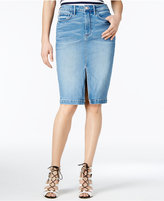 GUESS High-Waist Cotton Denim Pencil Skirt