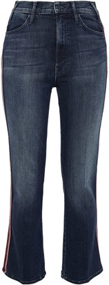 Mother The Looker Lame-trimmed High-rise Kick-flare Jeans