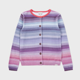 Paul Smith Girls' 7+ Years Pastel-Stripe 'Maureen' Knitted Cardigan