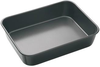 MasterPro Non-Stick Steel Deep Roasting Pan 34 x 26 x 7cm Black
