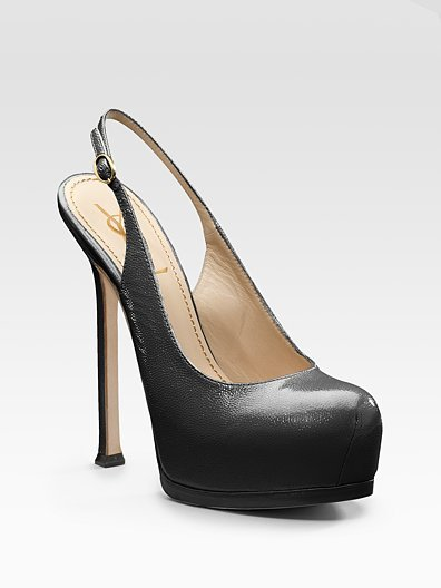 Yves Saint Laurent Tribtoo Platform Slingbacks