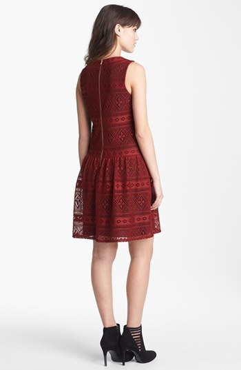 Betsey Johnson Drop Waist Lace Dress (Online Only)