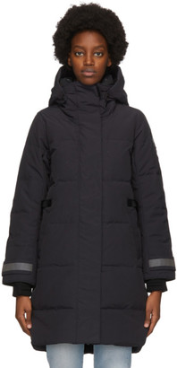 Canada Goose Navy Down Black Label Bennett Parka