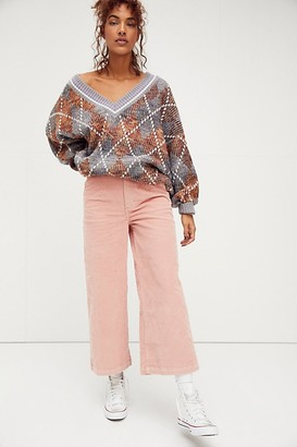 Lee High Rise Gathered Wide Crop Jeans