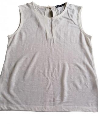 Petit Bateau White Linen Top for Women