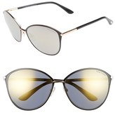 Tom Ford Women's Penelope 59Mm Gradient Cat Eye Sunglasses - Black/ Smoke Gold Flash