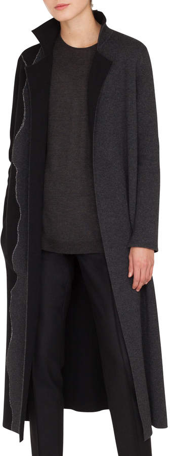Akris Reversible Self-Belt Bicolor Cashmere Coat