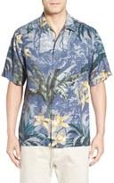Tommy Bahama 'Jungle Gardens' Original Fit Short Sleeve Silk Sport Shirt