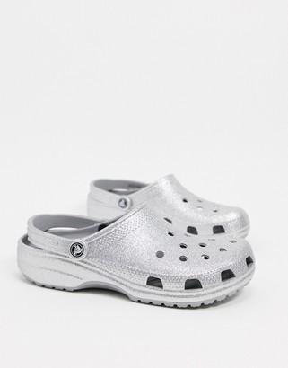 Crocs originals clogs in silver glitter