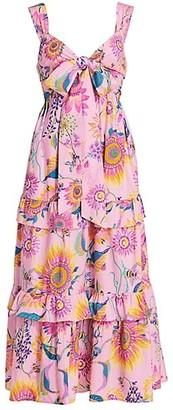 Banjanan Serafina Floral Cotton Maxi Dress