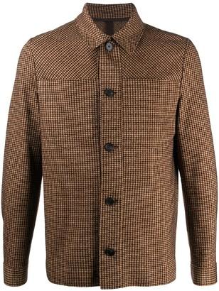 Harris Wharf London Houndstooth Shirt Jacket