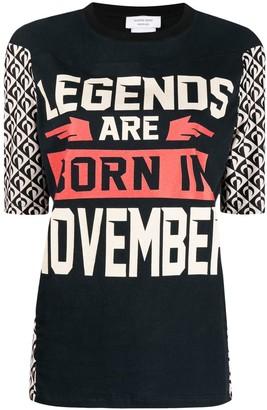 Marine Serre slogan-print T-shirt