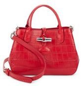 Longchamp Roseau Croco Leather Crossbody Bag