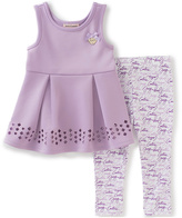 Juicy Couture Lilac Pleated Top & Leggings - Girls