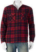 Croft & Barrow Men's Classic-Fit Plaid Arctic Fleece Jacket