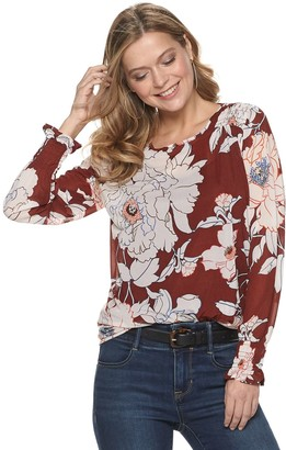 Apt. 9 Women's Ruched Long Sleeve Top
