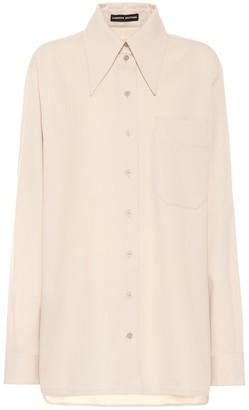 Kwaidan Editions Wool-blend crepe shirt