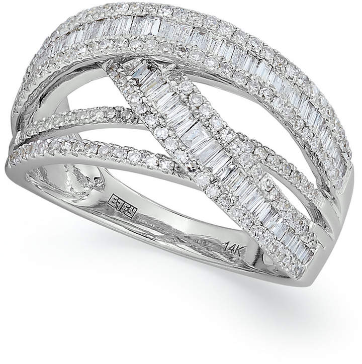 Effy Classique by Diamond Crossover Ring in 14k White Gold (1 ct. t.w.)