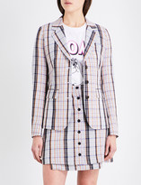 Aalto Checked single-breasted wool jacket