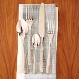 west elm Hammered Silver Flatware Set