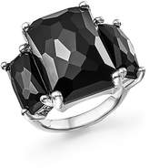 Ippolita Sterling Silver Rock Candy 3-Stone Ring in Black Onyx