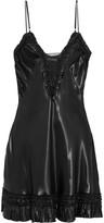 Alexander McQueen Ruffle-trimmed satin mini dress