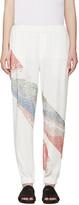 Baja East Ivory & Multicolor Embellished Trousers