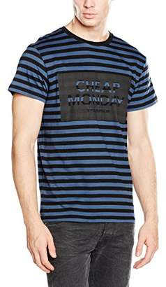 Cheap Monday Men's Standard Cage Striped Short Sleeve T-Shirt,Small