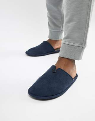 Dunlop Check Slip On Slipper-Navy