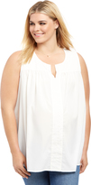 Motherhood Plus Size Fit And Flare Maternity Blouse