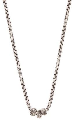 Emanuele Bicocchi Sterling-silver Box-chain Charm Necklace - Silver