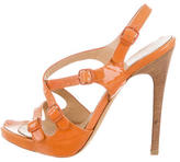 Philosophy di Alberta Ferretti Patent Leather Multistrap Sandals
