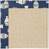 Capel Zoe Machine Tufted Pitch/Beige Area Rug Rug
