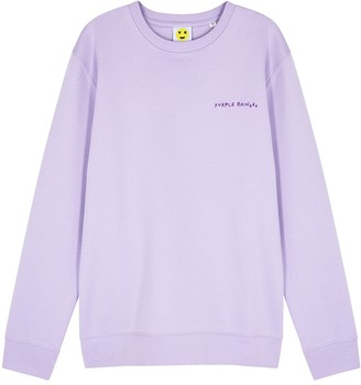 YEAH RIGHT NYC Purple Rain cotton-blend sweatshirt