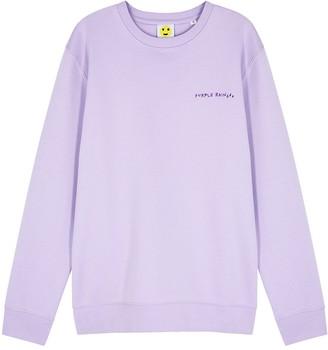YEAH RIGHT NYC Purple Rain Cotton-blend Sweatshirt