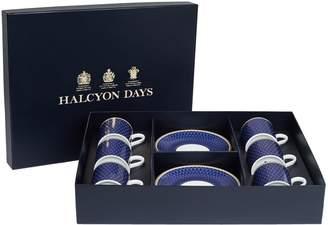Halcyon Days Bone China Antler Print Coffee Cup Set