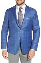 Hickey Freeman Global Guardian Classic Fit Windowpane Wool Sport Coat