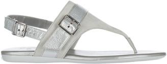 Hogan Buckle Detail Thong Sandals