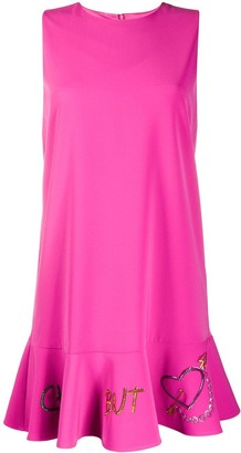 Boutique Moschino Ruffled-Hem Mini Dress