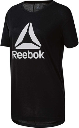 Reebok Womens Workout Ready 2.0 Big Logo Tee