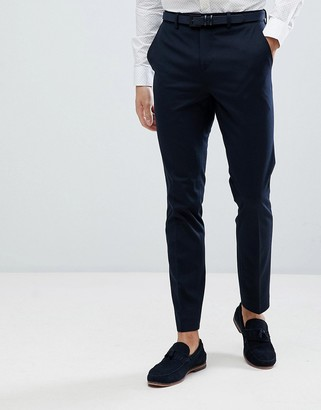 Jack and Jones slim fit suit trousers in navy
