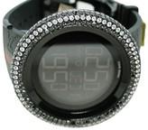 Gucci Digital Diamond Watch 14.5 Ct Bezel Mens Black Watch